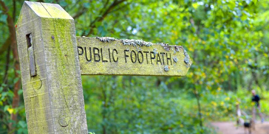Footpath park sign
