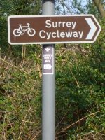 Sign for Surrey's Cycleway