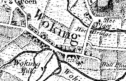Map of Woking from 1768