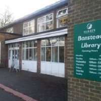 Banstead Library entrance