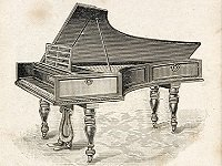Drawing of the piano presented to Beethoven