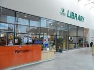 Epsom Library entrance