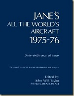 Front cover of Jane's All the World's Aircraft 1975-76