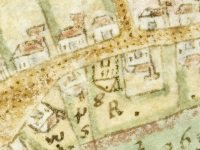 Link to a larger image of Guildford High Street 17th cent map ref G111_2_3 p14