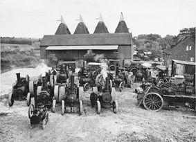C W Lambert's yard, Horsmonden, Kent, with a range of traction engines, 1949 (Ref 6790/4/11 F5362)