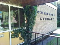 Chertsey Library entrance
