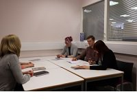 Dorking Library room in use
