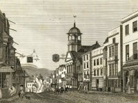 Link to a larger image of Guildford High Street engraving c.1778 PX_72_417_1
