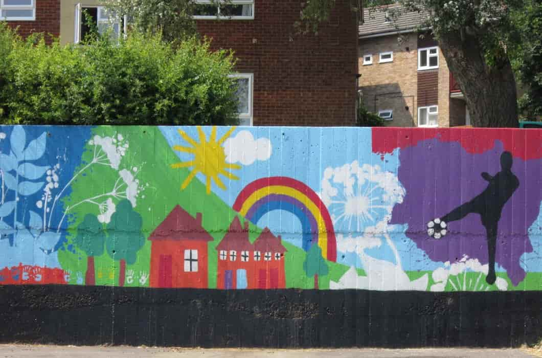Chantry community centre's colourful wall mural