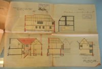 Traced plan of Little Tangley in Wonersh near Bramley by architect Edwin Lutyens in 1898