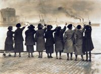 The girls they left behind. 2nd Battalion the East Surrey Regiment, leaving Dublin, 17 February 1922. (SHC ref ESR/3/13/13)
