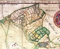 Woking Manor Map, 1719. SHC ref G97/5/63