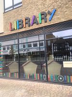 Horley Library entrance