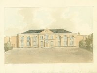 Link to larger image of Sessions House for Surrey, Horsemonger Lane 1823 by John Hassell (SHC ref 4348/6/6/3)