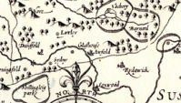 John Speed's 1610 map (section) SHC ref M/555/1