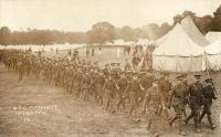 Officer Training Corps Camp at Mytchett, No. 3 Battalion marching, c.1915 (SHC ref PC/68/28)