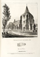 A page from the book showing Mickleham Church