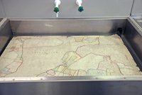a map in a sink