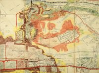 Central section of map by Eric Palmer of Blackdown and Deepcut Camps