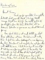 Letter from Franklin Lushington to Susan Lushington, Kingsley, Bordon, 29 Nov 1918 (SHC ref 7854/4/7/4/26)