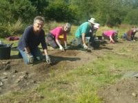 Volunteers excavating Witley Camp