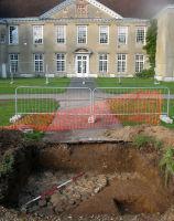 Reigate Priory - sunken garden wall