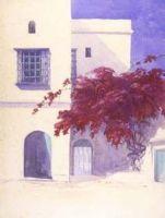 Watercolour of Campagne Maheiddin Bouganvillea Algiers