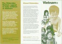 Vietnam appeal leaflet, 1970s