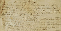 Diary extract 1793