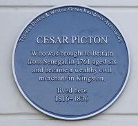 Cesar Picton blue plaque. Photo copyright of Peter Hills.