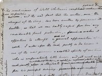 Link to a larger image of Lushington's note on Whitman's poetry and writings