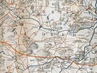 Section of John Senex map of Surrey 1729 ref M/407