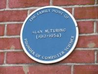 Alan Turing blue plaque Guildford