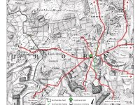 Routes to Langley Vale Saxon moot on 1750 map