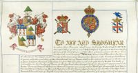 Grant of arms to James Shudi Broadwood by the College of Arms in 1824