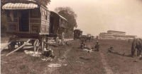 Waggons at the Epsom Derby