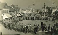 Royal Fusiliers recruits at Epsom c.1914 (SHC ref PC/58/82)