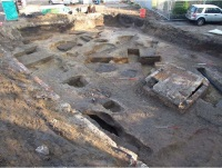 Archaeological excavation was carried out at The American School in Switzerland, Thorpe, Surrey