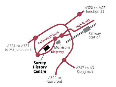 Surrey History Centre map