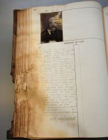 Conservation of a badly damaged casebook - before